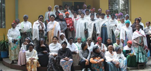 Ada'a Woreda's women farmers who are training to be chickpea seed producers.